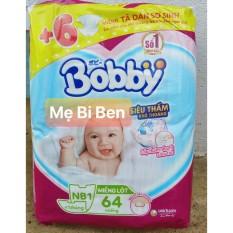 [TẶNG KÈM 6M DÁN XS] Miếng Lót Sơ Sinh Bobby Newborn 1 64 miếng