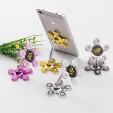 Giá đỡ điện thoại đế hút chân không 2 đầu xoay 360 độ hình bông hoa