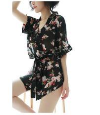 Áo choàng ngủ voan hoa xuyên thấu – ACH005