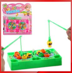 Vỉ đồ chơi câu cá 2 người cho bé( 2 cần, 8 cá)