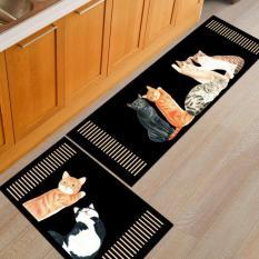 Bộ 2 Thảm trải nhà bếp 3D MARKETVIETNAM phong cách Hàn Quốc( loại 1) nhiều mầu sắc dễ lựa chọn ( 120 cm x 40 cm + 60cm x 40cm)