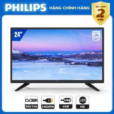 TIVI PHILIPS 24 INCH 24PHT4003S/74 LED HD (.DIGITAL TV DVB-T2 – HÀNG THÁI LAN) – TIVI GIÁ RẺ – TẶNG USB CỰC CHẤT 16G – BẢO HÀNH CHÍNH HÃNG 2 NĂM TẠI NHÀ.