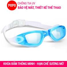 Kính bơi người lớn cho nam, nữ POPO 2360TR mắt kiếng trong cản tia UV hạn chế sương mờ, dùng được cho bé, cho trẻ em trên 8 tuổi, dùng khi tập bơi, thi đấu bơi lội chuyên nghiệp