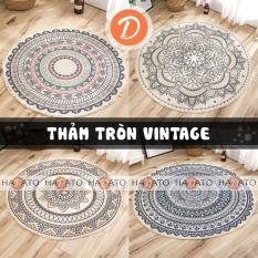 Thảm Trải Sàn Thảm Phòng Khách Thảm trang trí Thảm tròn phong cách Bắc Âu, hoa văn tao nhã, có thể giặt máy – TT 1