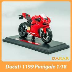 XE MÔ HÌNH – MOTO Siêu xe Ducati 1199 Panigale – MAISTO tỷ lệ 1:18