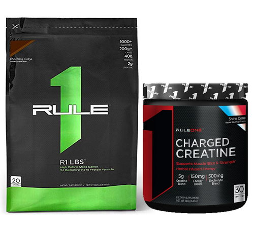 Combo Rule 1 LBS 12lb (5.4kg) & R1 Charged Creatine 30 Servings (240g)
