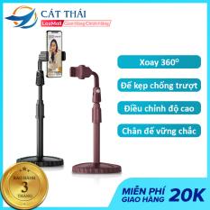 Giá đỡ điện thoại Cát Thái ZJL8 , giá đỡ micro ZJL4 dành cho livestream xoay 360 độ mọi góc nhìn, có thể điều chỉnh độ cao, phần đế dày và nặng rất vững chắc, giá kẹp chống trượt chống trầy