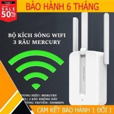 Thiết bị kích sóng wifi CỰC MẠNH (thiet bi kich song Wifi Mercury MW302RE 3 ăngten 300Mbps)