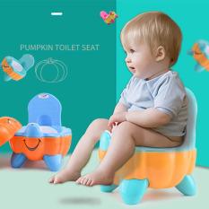 Bô vệ sinh cho bé hình quả bí ngô dễ thương, chất liệu cao cấp có nắp đậy an toàn
