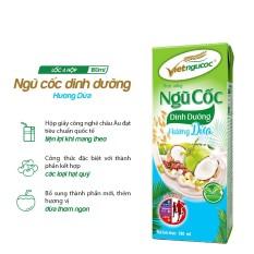 Thức uống Ngũ cốc dinh dưỡng hương dừa Việt Ngũ Cốc lốc 4 hộp 180ml