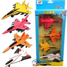 Hộp 4 chiếc máy bay bằng sắt chạy đà siêu hot