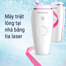 Máy triệt lông vĩnh viễn,triệt lông nách, lông bikini, tay và chân tại nhà bằng tia Laser- Tặng kèm gel và kính- Bảo hành 12 tháng