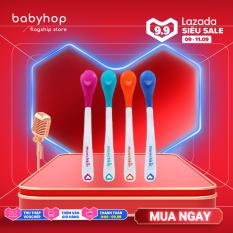 Thìa mềm báo nóng cho bé tập ăn dặm Munchkin kiểm tra độ nóng của đồ ăn – giá bán 1 chiếc phân phối chính hãng Babyhop