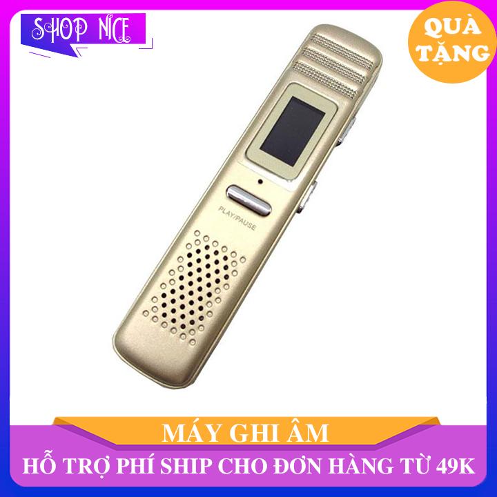 Máy ghi âm kỹ thuật số chuyên dụng cầm tay cổng sạc usb, máy thu âm giảm tiếng ồn kích thước nhỏ gọn 9×2 cm ShopNice – AN04