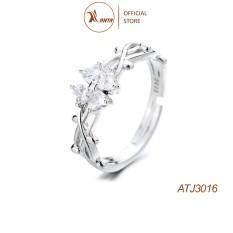 Nhẫn Bạc 925 Hình Cỏ Bốn Lá Đính Đá Xinh Xắn Cho Nữ ANTA Jewelry – ATJ3016
