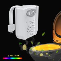 Đèn LED Toilet treo bồn cầu có tia UV diệt khuẩn cảm ứng tự động bật tắt ánh sáng 8 màu, cảm biến thông minh nhà vệ sinh
