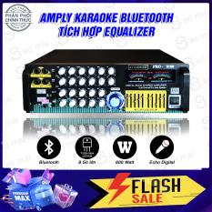 [ Có video test ] Ampli Bluetooth karaoke sân khấu, Amply nghe nhạc gia đình ATANNOII PRO-8100 Tích hợp Equalizer Đèn nháy Cực Đẹp Tặng 2 chống lăn micro