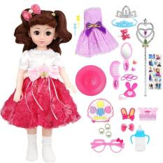 Búp Bê Doll Mắt 4D Cao 43Cm 160 Âm Thanh + Tặng Phụ Kiện 29 Pcs (Đỏ)