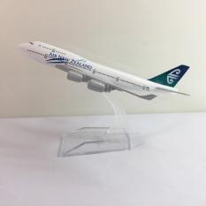 Mô hình máy bay Boeing 747 B747 bằng kim loại dòng Boeing 747 16cm món quà tặng mô hình tĩnh die-cast trưng bày bàn làm việc, kệ ti-vi, giá sách