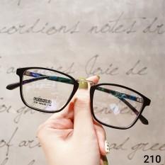 Kính cận nam nữ Lily Eyewear 210 mắt kính gọng vuông unisex có độ kính Hàn Quốc gọng kim loại mắt trong suốt giả cận kính thời trang, kính kèm tròng 0 độ nhận cắt kính cận Bảo hành 1 năm