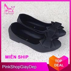 (Có mã giảm ship) Giày nữ, giày búp bê PinkShopGiayDep chất liệu da, êm chân, bền, xinh xắn PinkShopGiayDep – MS:224