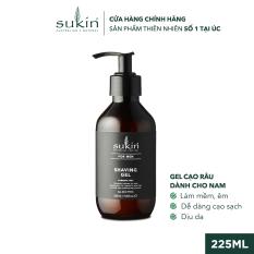 Gel Cạo Râu Sukin For Men Shaving Gel 225ml