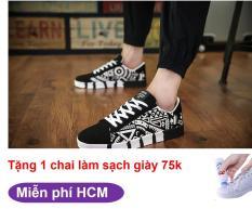 Sunzin.HCM Free từ 99k- Giày sneaker nam thời trang có in họa tiết SZ185HT Tặng chai làm sạch giày 75k (giay nam / giay sinh vien / giày nam giá rẻ / giày thể thao )