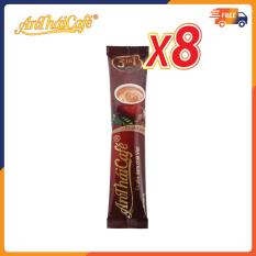 Combo 8 gói cà phê sữa 3in1 An Thái, vị đắng đậm và ít béo không trộn hương liệu Gói 18gr – AnTháiCafé