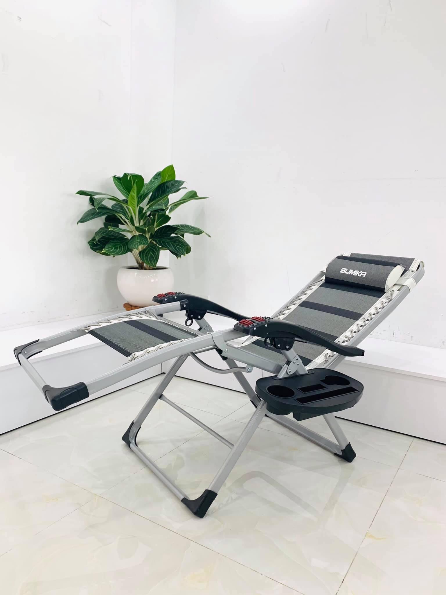 Ghế xếp thư giãn SUMIKA 199 - Mẫu mới nhất 2020, lăn tay massage.