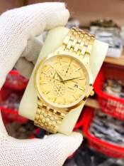 đồng hồ nam nữ đẹp mặt vàng chống nước chống xước ER011