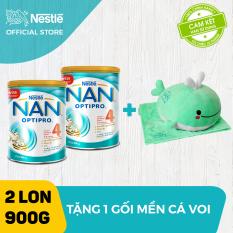 [FREESHIP] Bộ 2 lon sữa bột Nestle NAN Optipro 4 cho trẻ trên 2 tuổi 900g + Tặng 1 bộ mền gối cá voi – Cam kết HSD còn ít nhất 10 tháng – Giới hạn 5 sản phẩm/khách hàng