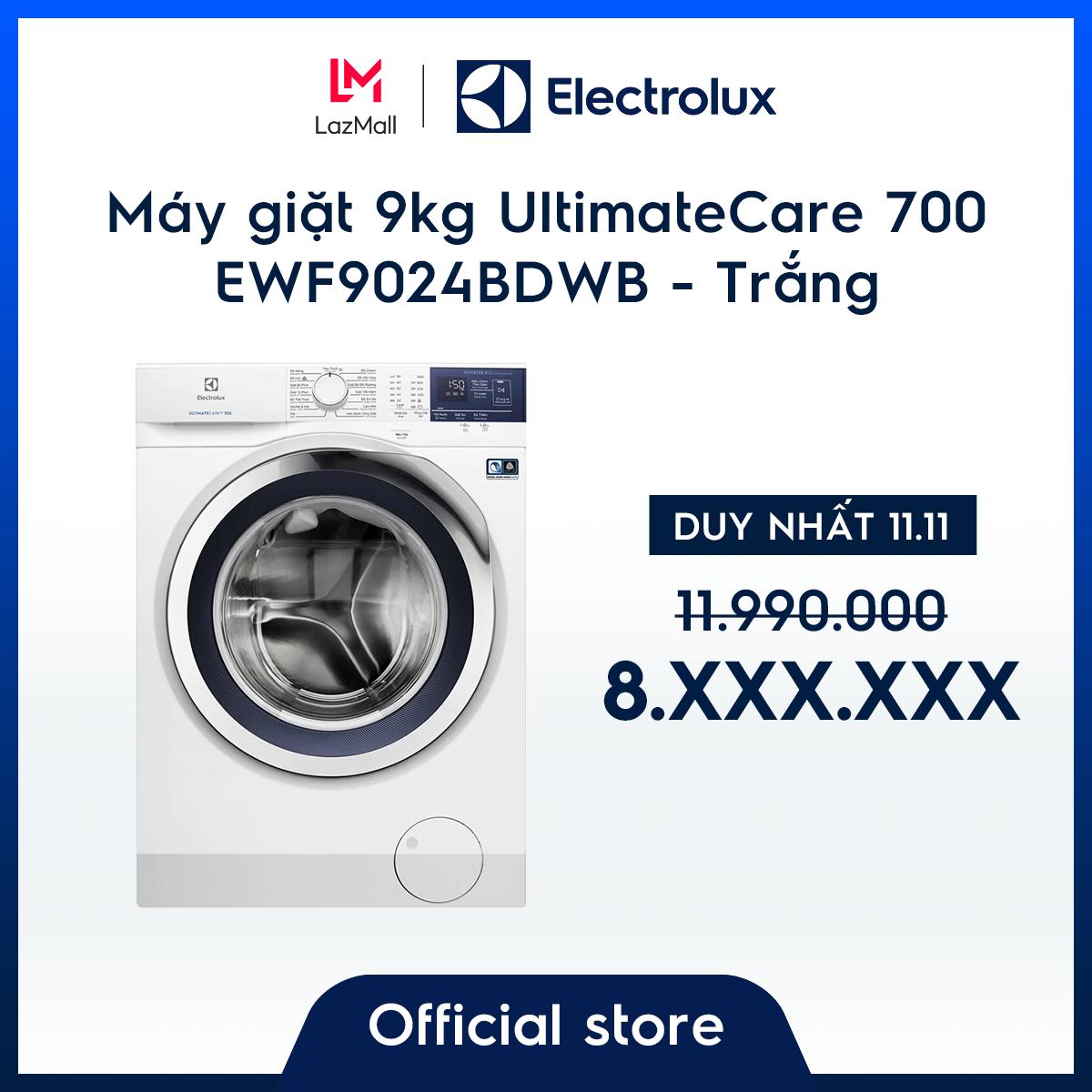 [Miễn phí công lắp đặt – giao hàng HCM & HN] Máy giặt 9kg UltimateCare 700 EWF9024BDWB – Màu Trắng – OKO Mix – Công nghệ Auto Sense – Tiết kiệm năng lượng – Hàng chính hãng