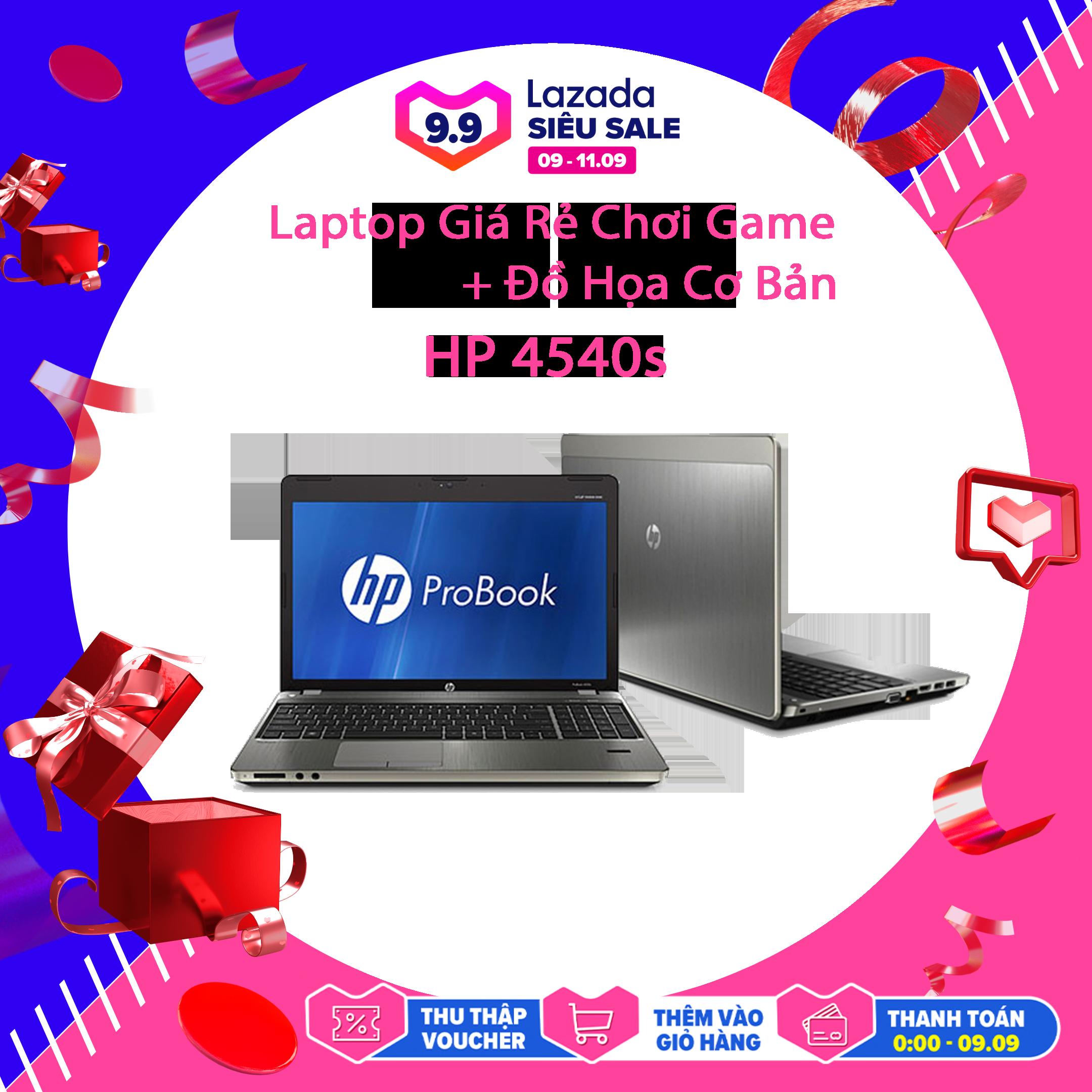 Laptop Giá Rẻ Chơi Game Đồ Họa Cơ Bản HP 4540s, i5-3210M, VGA Intel HD 4000, Màn 15.6HD, LaptopLC298