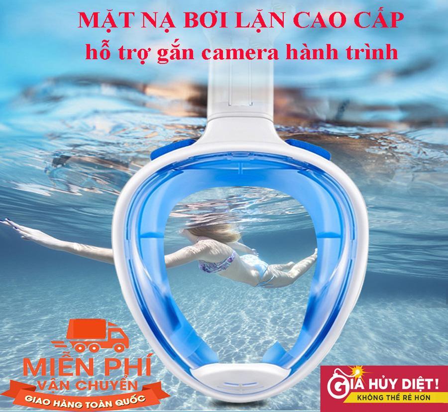 Ống thở tập bơi - Kính lặn biển - Mặt nạ lặn full face, kính bơi lặn biển, kính lặn...