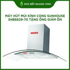 Máy hút mùi kính cong Sunhouse SHB6629-70 tặng ống giảm ồn