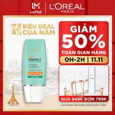 Kem chống nắng bảo vệ & dưỡng da se mịn lỗ chân lông & chống ô nhiễm L'Oreal Paris UV Perfect fresh & Matte SPF50/PA++++ 30ml