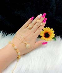 Bộ trang sức nữ mạ vàng 18k cao cấp Minshop VB417091901 – Đeo đi tiệc đi chơi cực sang trọng