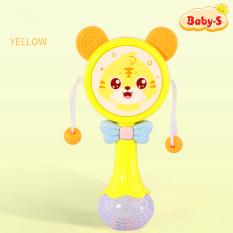 Lục lạc cho bé, đồ chơi lục lạc cho bé xúc xắc có nhạc và đèn phát sáng hình mặt gấu ngộ nghĩnh Baby-S – SDC050