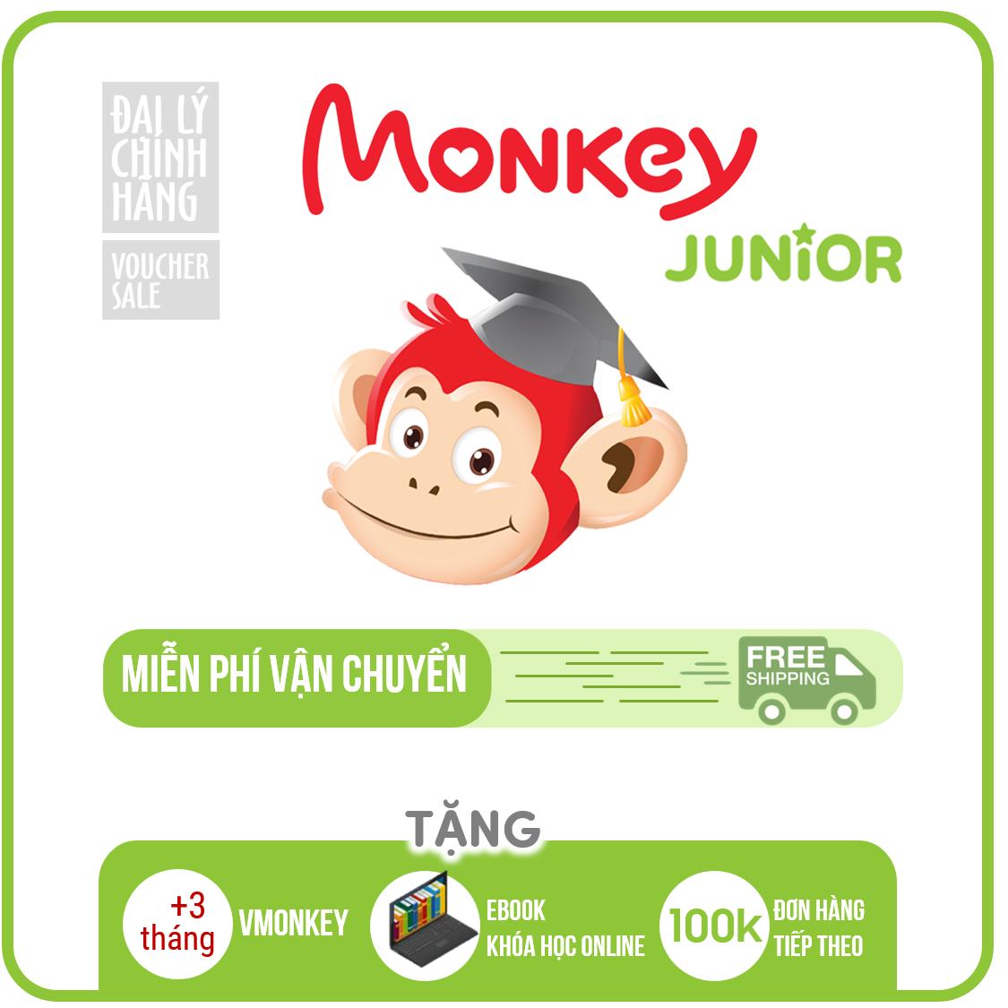 Monkey Junior (Trọn đời, 4 năm, 2 năm,1 năm) - Phần mềm tiếng Anh ngữ cho trẻ em