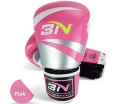 Găng tay đấm boxing cao cấp BN 10oz (Hồng)