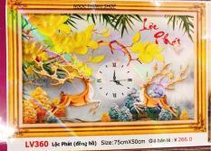 Tranh đính đá cao cấp Đồng Hồ Lộc Phát LV360 – KT:(75×50)cm