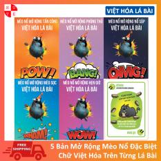 Combo 05 Bộ Mở Rộng Mèo Nổ Bản Đẹp Việt Hóa Lá Bài