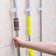 (Bộ 5 cái) Móc dán tường đa năng treo chổi – cây lau nhà