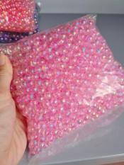 Hạt cườm nhựa Acrylic tròn cừ 8mm giá rẻ làm rèm handmade thú cưng giỏ sách góii 100gr
