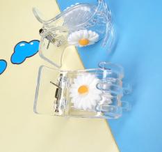 Kẹp càng cua (gấp tóc) 5 răng hoa cúc (màu trắng) trong xinh xắn Phụ Kiện 68