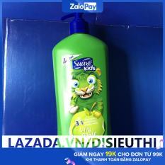 Sữa tắm gội xả cho trẻ nhỏ sữa tắm gội Suave Kids 3 in 1 chai có vòi 532ml giúp cho làn da của bé luôn mềm mại với những mùi hương trái cây tự nhiên thơm mát.