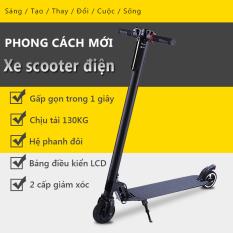 Xe Scooter xe trượt điện mini có thể gấp thanh thiếu niên nam nữ đi làm đi học tiện lợi Tops Market