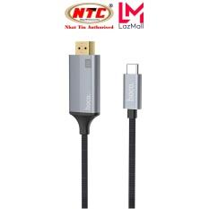 Cáp chuyển đổi TypeC sang HDMI Hoco UA13 vỏ hợp kim nhôm, hỗ trợ 4K, dài 1.8M (Xám) – Nhat Tin Authorised Store