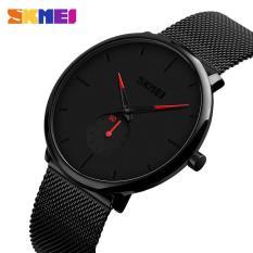 Đồng hồ nam SKMEI dây lưới thép không gỉ – tặng kèm pin – SK90