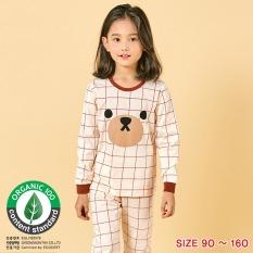 Đồ bộ dài tay mặc nhà cotton mịn cho bé gái U1004 – Unifriend Hàn Quốc, Cotton Organic
